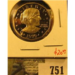 1999-P PROOF Susan B. Anthony Dollar, value $20