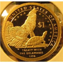 2013-S PROOF Native American Dollar, value $10