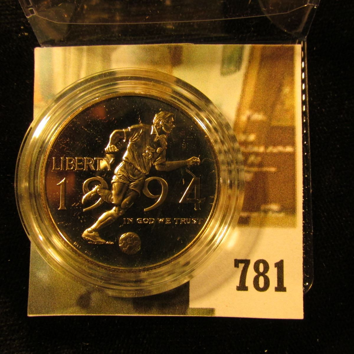 Image 1 1994 P World Cup Commemorative Half Dollar Proof Value 15
