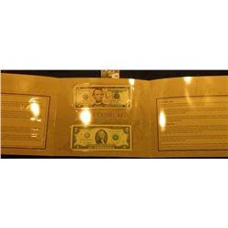 Gettysburg 150th Anniversary Currency Set, issued by the Department of the Treasury, BEP – features
