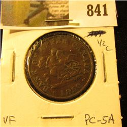 Bank of Upper Canada Half Cent Token, VF, PC-5A