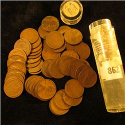 Roll of (50) 1923 P Lincoln Cents. Average circulated.