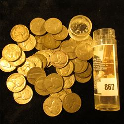 (40) Old U.S. Jefferson Nickels, some of which are the World War II Silver variety.