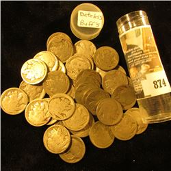 (40) Old well circulated Buffalo Nickels, most appear to be dateless.