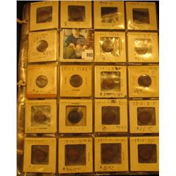 (5) Plastic Pages with (69) Lincoln Cents including a 1909 P & P VDB, and several better dates inclu
