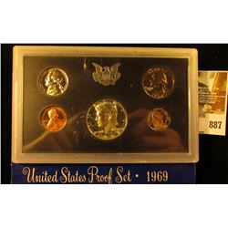 1969 S Silver U.S. Proof Set, Original as issued.