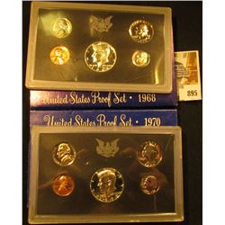 1968 S & 1970 S U.S. Proof Set. Original as issued.