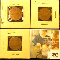 (2) 1865 & 1869 U.S. Two Cent Pieces, G-VG.