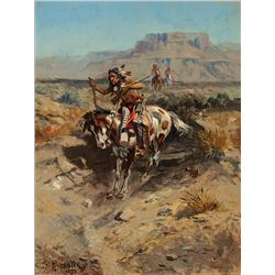 Charles Russell -Indian On Horseback