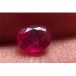 Natural Kashmir Red Ruby 0.90 carats