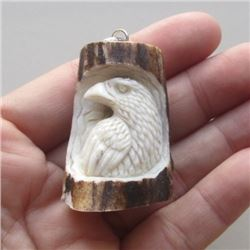 Hand Craved Raven Pendant