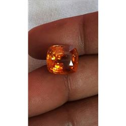 Natural Vivid Orange Sapphire 9.52 Ct - Untreated