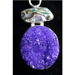 Natural Amethyst & Abalone Necklace