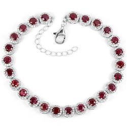 Natural Pigeon Blood Red Ruby Bracelet
