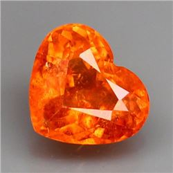 Natural Orange Spessartite Heart 1.50 Carats