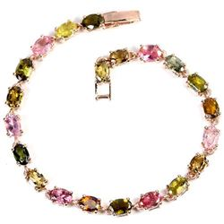 NATURAL MULTI COLOR TOURMALINE Bracelet