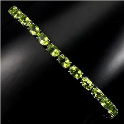 Natural Rich Green Peridot 60 Carats Bracelet