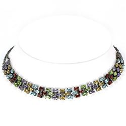 Natural Multi Gemstone Necklace