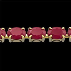 29 CTW Ruby Eternity Designer Inspired Tennis Bracelet 14K Yellow Gold - REF-180T2M - 23394