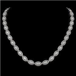 24.42 CTW Marquise Diamond Designer Necklace 18K White Gold - REF-4479H3A - 42650