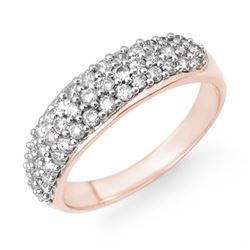 1.0 CTW Certified VS/SI Diamond Ring 14K Rose Gold - REF-80Y5K - 14224