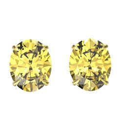 5 CTW Citrine Designer Inspired Solitaire Stud Earrings 18K Yellow Gold - REF-33W3F - 21659