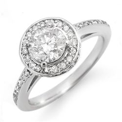 1.75 CTW Certified VS/SI Diamond Ring 14K White Gold - REF-429A8X - 11765