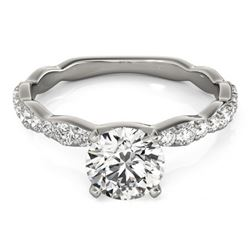 0.93 CTW Certified VS/SI Diamond Solitaire Ring 18K White Gold - REF-117N3Y - 27471