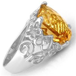 10.03 CTW Citrine & Diamond Ring 10K White Gold - REF-42K9W - 11016