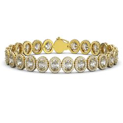 18.8 CTW Oval Diamond Designer Bracelet 18K Yellow Gold - REF-3438N8Y - 42817