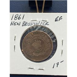 1861 New Brunswick Large Penny (EF)