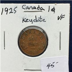 "1925 Canada One Cent ""Key Date"" (EF)"