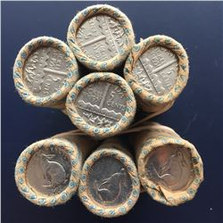 7 Rolls Canadian Five Cents