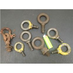 Lot of Eye Bolts, 8 Total