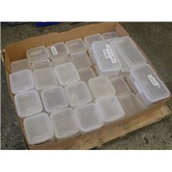 "Lot of 6"" x 7"" x 4"" Plastic Totes"