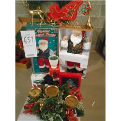 "New  ""Rockin' Around Santa"", other Christmas Decorations"