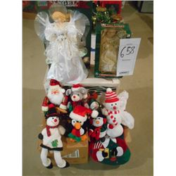 Lot of New & Like-New Christmas Decorations