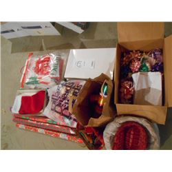 Huge Gift Box, Gift Wrap, Ribbon Lot/Mostly New