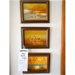 3 pc Oil Painting Set