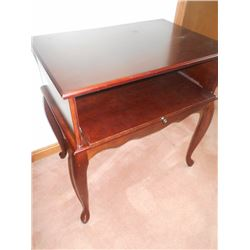 Mahogany Stand w/Drop Front Drawer
