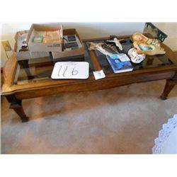 Matching Bevel Glass Coffee Table