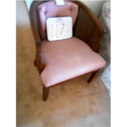 Vintage Rose Velvet Reed Sided Suede Chair