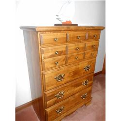 5 Drawer WOOD Chest LIKE NEW