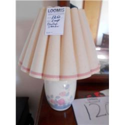 Stoneware Lamp w/Pleated Shade