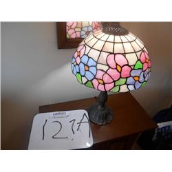 Like New Leaded Glass Lamp