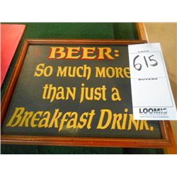 Man Cave Beer Sign