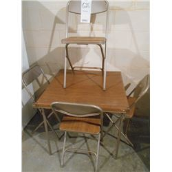 6pc Card Table and Chairs