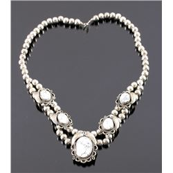 Sterling Silver White Buffalo Turquoise Necklace