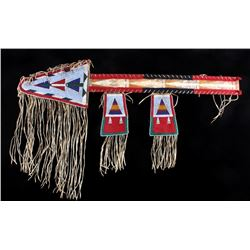 Crow Beaded Parfleche Lance Case circa 1890
