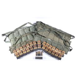 M1 Garand Bandoliers w/ 224 Unfired & 10 Fired Rds